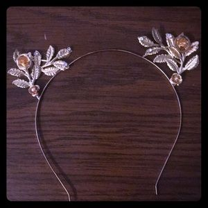 Gold cat ear headband, never worn
